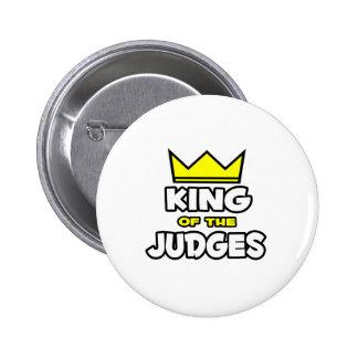 Rey de los jueces pin redondo de 2 pulgadas