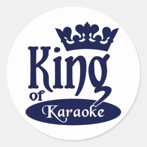 Rey de los pegatinas del Karaoke
