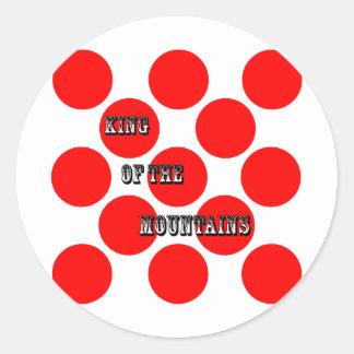 Rey de los puntos de las montañas etiquetas redondas