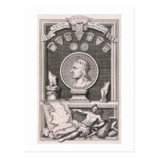 Rey de los sajones del oeste, primera Mona de Tarjetas Postales