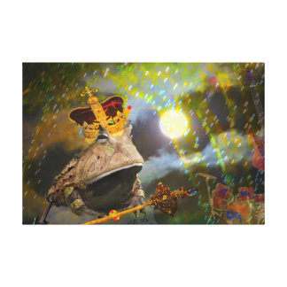 Rey de los sapos lienzo envuelto para galerias