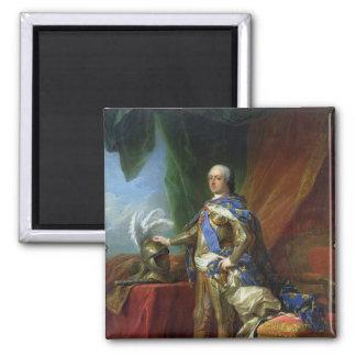 Rey de Louis XV de Francia y de Navarra, 1750 Imán Cuadrado