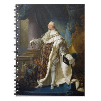 Rey de Louis XVI de Francia y de Navarra 1754-179 Libro De Apuntes Con Espiral