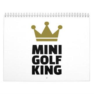 Rey de Minigolf Calendario De Pared
