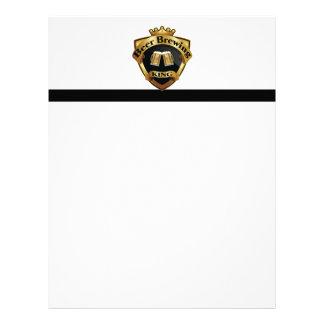 Rey de oro Crown Crest de la fabricación de la Membrete Personalizado