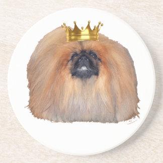 Rey de Pekingese (personalizar si usted desea!) Posavasos Diseño