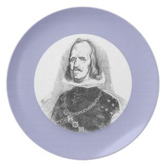 Rey de Philip de España Plato Para Fiesta