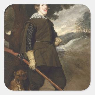 Rey de Philip IV de España, 1632-36 Pegatina Cuadrada