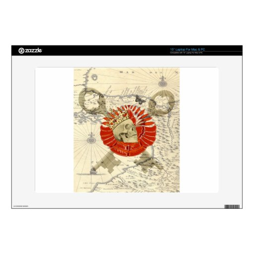 Rey de piratas 38,1cm portátil calcomanía