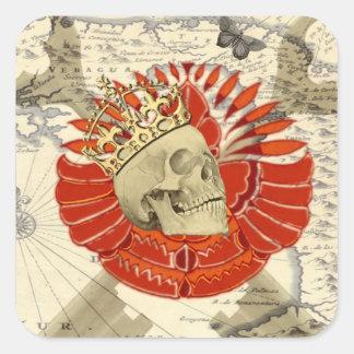 Rey de piratas colcomanias cuadradas personalizadas
