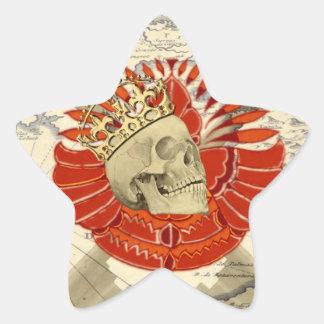 Rey de piratas calcomania forma de estrella