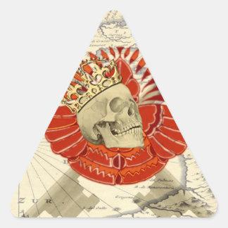 Rey de piratas calcomania de trianguladas