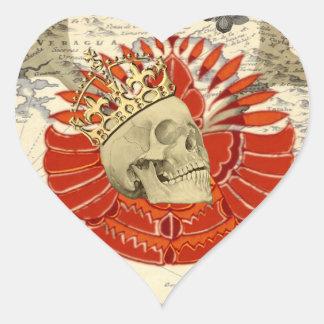Rey de piratas calcomanía corazón personalizadas