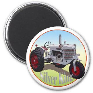Rey de plata Tractor Imán Redondo 5 Cm
