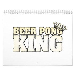 Rey de Pong de la cerveza Calendarios