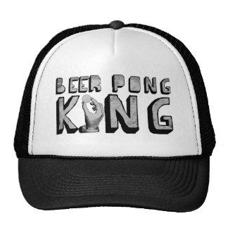 Rey de Pong de la cerveza del vintage Gorros Bordados