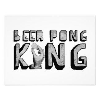 Rey de Pong de la cerveza del vintage Anuncios