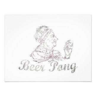 Rey de Pong de la cerveza del vintage Comunicado Personal