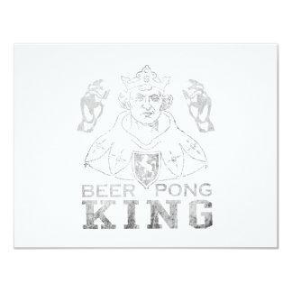 """Rey de Pong de la cerveza Invitación 4.25"""" X 5.5"""""""