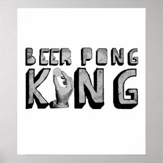 Rey de Pong de la cerveza Poster