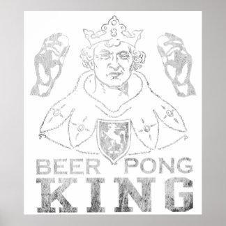 Rey de Pong de la cerveza Póster
