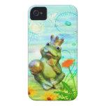 Rey de rana con flores funda iPhone iPhone 4 Case-Mate Protectores