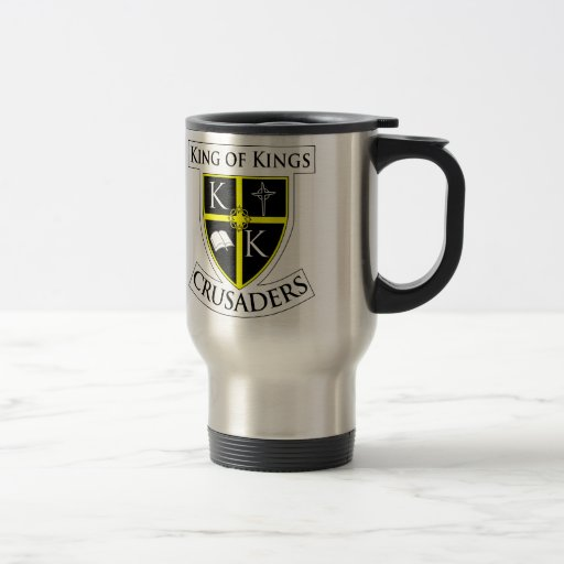Rey de reyes Travel Mug w/Shield Taza De Café