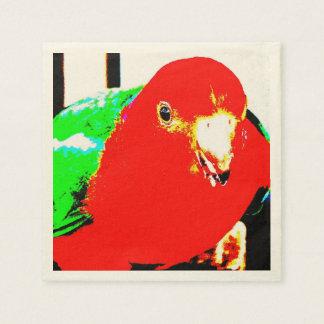 Rey de sexo masculino australiano Parrot Servilleta De Papel