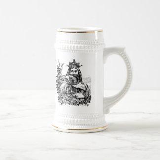 Rey de Stein grabado cerveza Tazas De Café