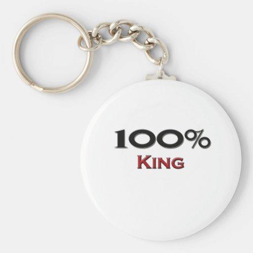 Rey del 100 por ciento llaveros personalizados