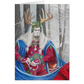 Rey del acebo tarjeta de felicitación