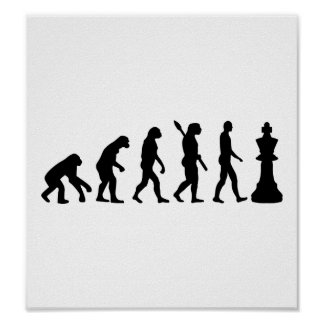 Rey del ajedrez de la evolución póster