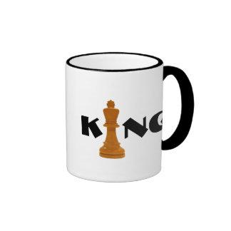 rey del ajedrez taza a dos colores