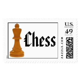 rey del ajedrez timbre postal