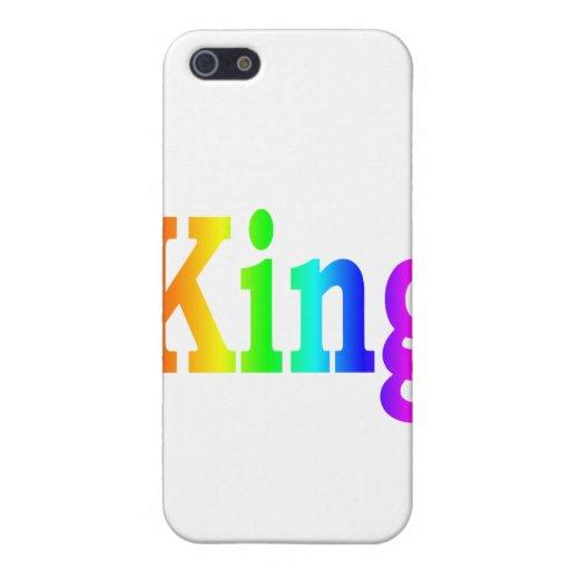Rey del arco iris iPhone 5 carcasa
