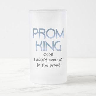 Rey del baile de fin de curso taza de cristal