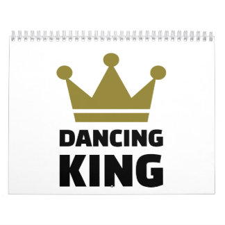 Rey del baile calendario de pared