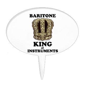 Rey del barítono de instrumentos decoraciones de tartas