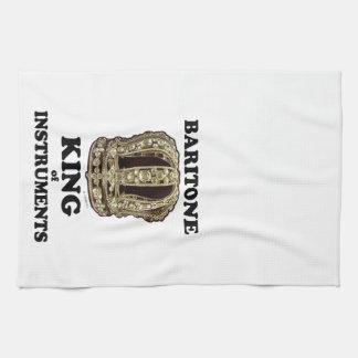 Rey del barítono de instrumentos toalla de cocina
