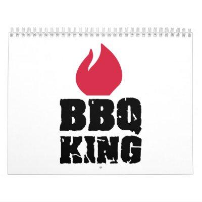 Rey del Bbq Calendario De Pared