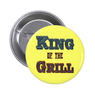 Rey del Bbq de la parrilla que cocina el botón del Pin Redondo De 2 Pulgadas