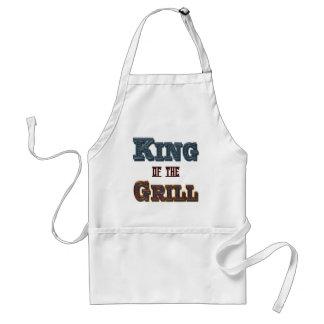 Rey del Bbq de la parrilla que cocina el delantal