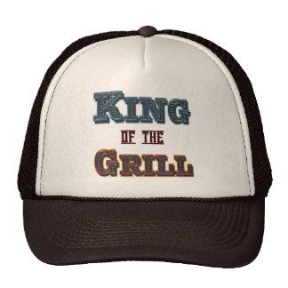 Rey del Bbq de la parrilla que cocina el gorra del