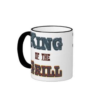 Rey del Bbq de la parrilla que cocina la taza del