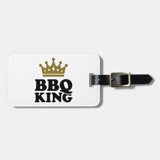 Rey del Bbq Etiquetas Para Equipaje