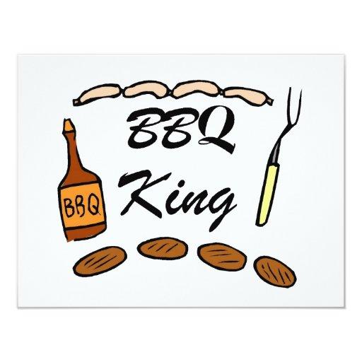 """Rey del Bbq Invitación 4.25"""" X 5.5"""""""