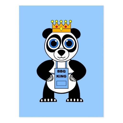 rey del Bbq Tarjetas Postales