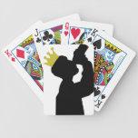 rey del boozer con el icono de la corona baraja de cartas