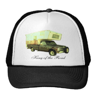 Rey del camino - campista del camión del vintage gorros bordados
