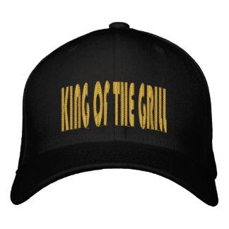 Rey del casquillo bordado parrilla gorra de beisbol bordada